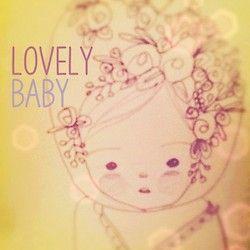 Lovely baby: boceto - #dibujo #pruebas #bebe #flores #lapiz #ilustracion #missmiza