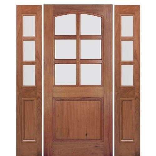 Mai Doors A79g 1 2 Alpine Square Top 6 8 Lite Panel Bottom Door And Sidelites In Walnut Mediterranean Doors Front Door Douglas Fir