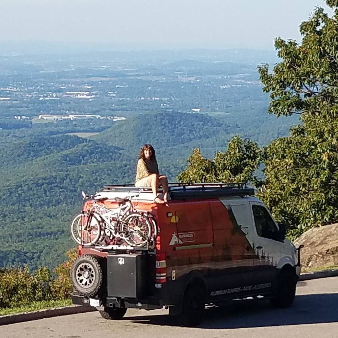Awesome Views On The Blue Ridge Parkway Aluminess Roofrack Ladder Bumpers Nerfbars Bikerack 1upusa Spor Sprinter Van Sprinter Camper 4x4 Camper Van