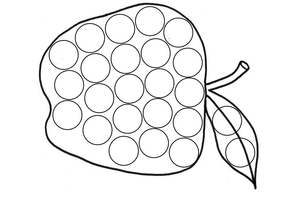 лепка на бумаге из пластилина рисунки в доу шаблоны