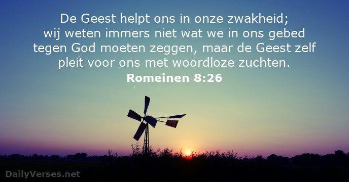Romeinen 8:26 - dailyverses.net