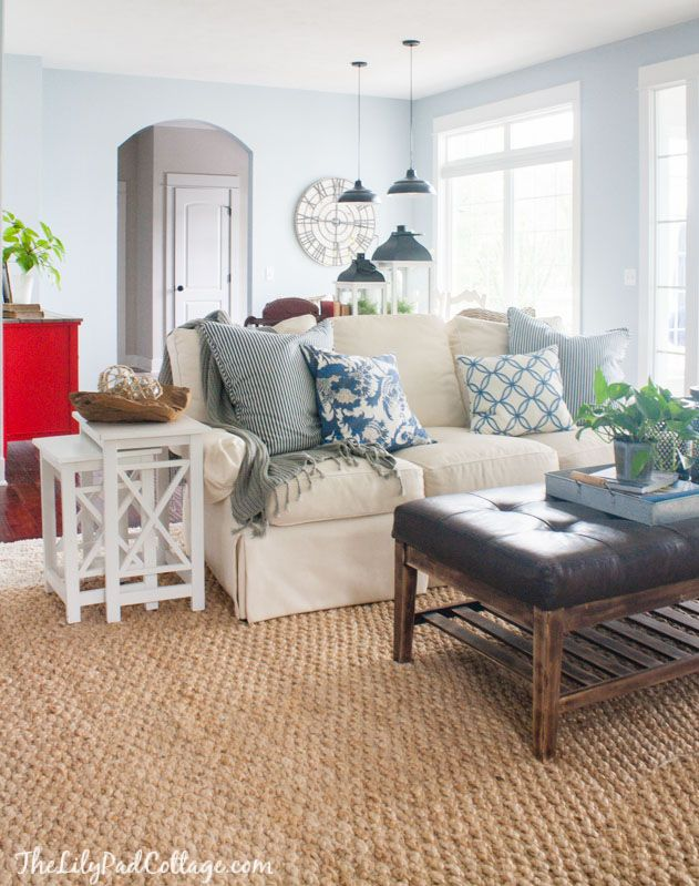 Summer Home Tour Coastal Living Rooms Decor Home Living Room Small Lake Houses