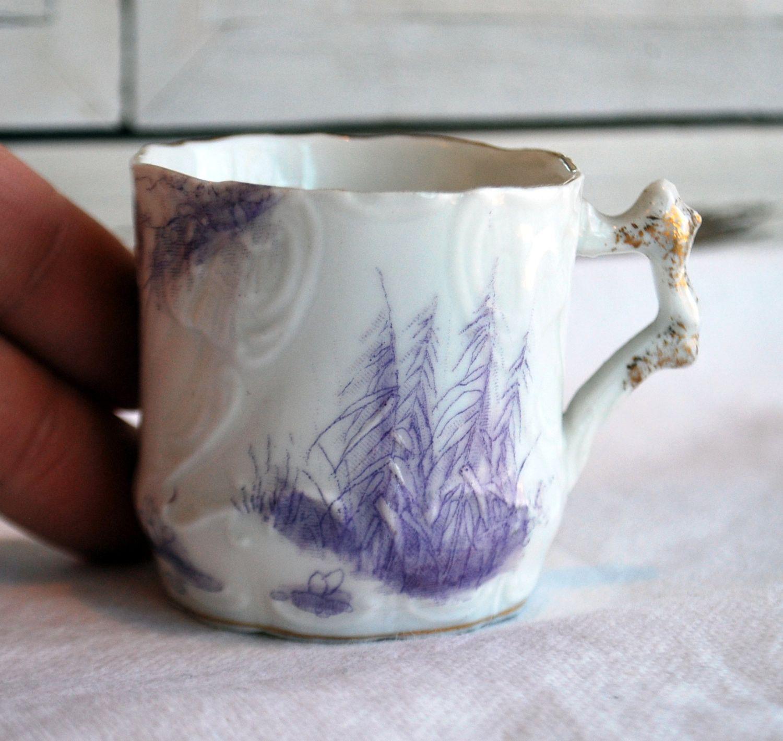 Demitasse Cup Purple Lavender China Porcelain Collectibles