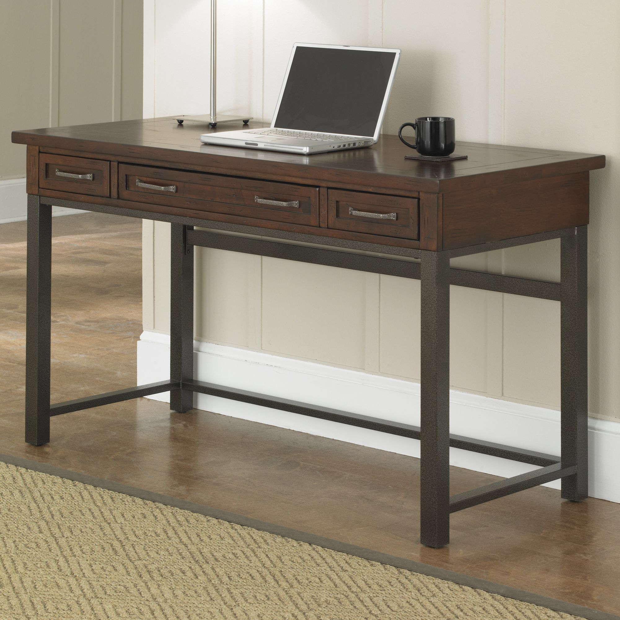 cabin creek computer desk with 1 right 1 left drawer dining room rh pinterest co uk