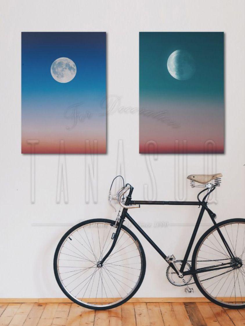 تابلوه مودرن قطعتين Tanasuq Bicycle