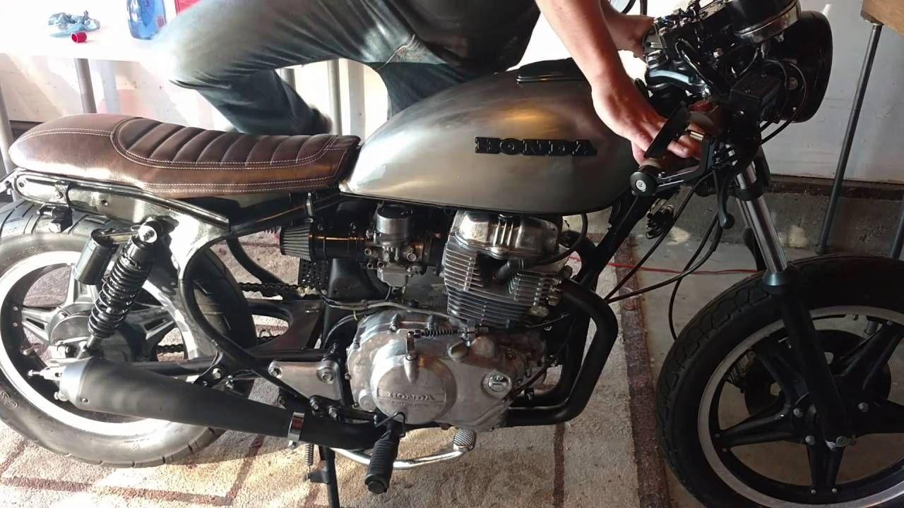 Honda Cm400t Cafe Racer Build Part 10 First Fire Cafe Racer Kits Cafe Racer Cafe Racer Build [ 720 x 1280 Pixel ]