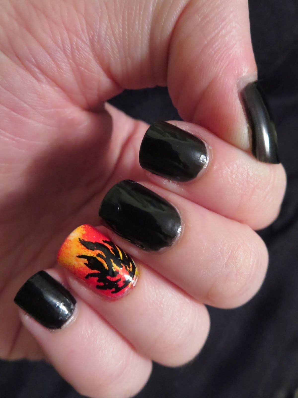 Divergent Nail Series Dauntless Fire By Bizarre Obsessions Nails