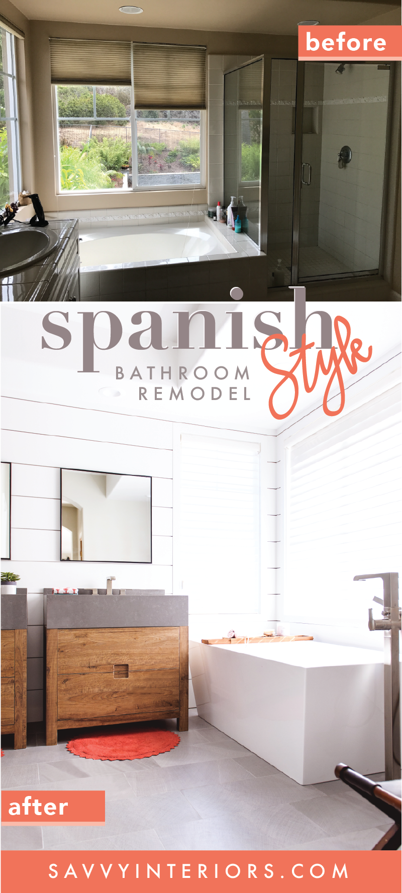 Spanish Style Bathroom Remodel Before  Aftersavvy Interiors Alluring San Diego Bathroom Remodel Design Inspiration