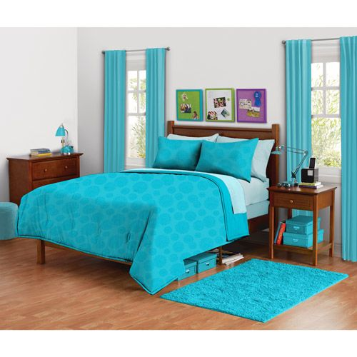 Walmart Com Your Zone Mink Mum Comforter Set Peacock