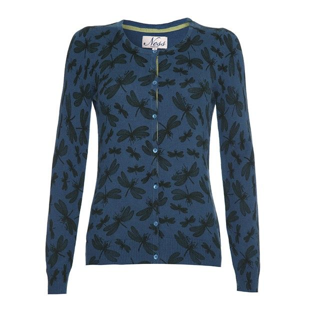 Wish it was a jumper but I love the colour! ERIN - Crew Neck Cardigan - Knitwear from Ness Clothing