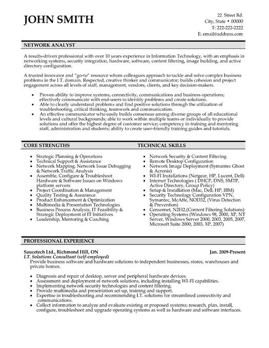 Click Here to Download this Network Analyst Resume Template!   - programmer analyst resume sample