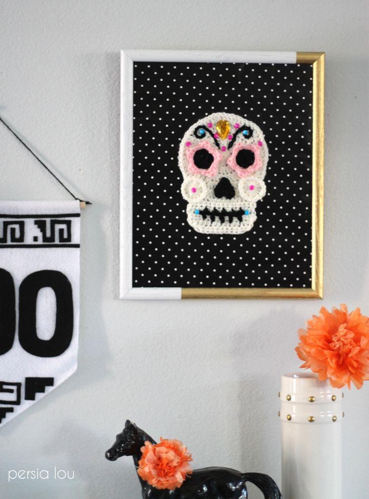 Crochet Sugar Skull - Free Pattern | Tricotar, Calaveras de azúcar y ...
