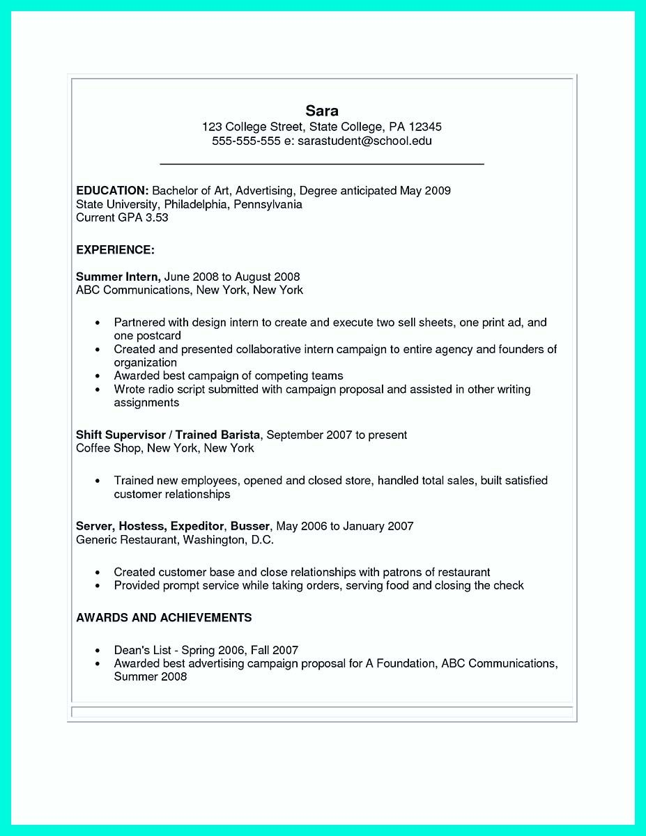 Resume College Student Cool Best College Student Resume Example To Get Job Instantly