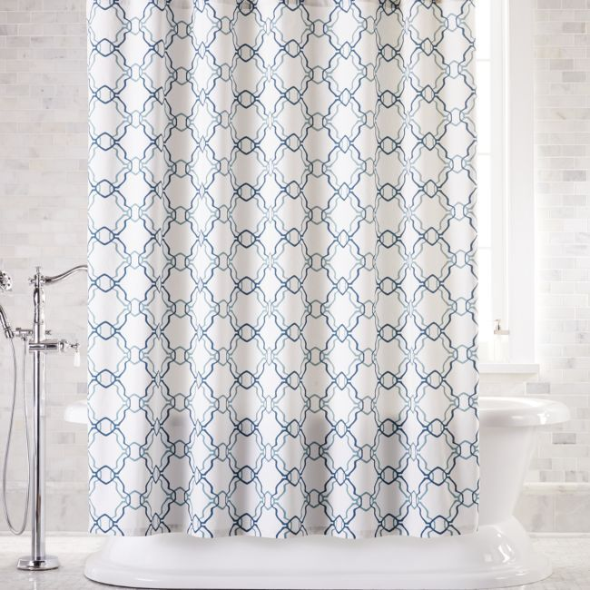 VCNY Home Black Silver /& Gray Geometric Fabric Shower Curtain x 72 in. 72 in