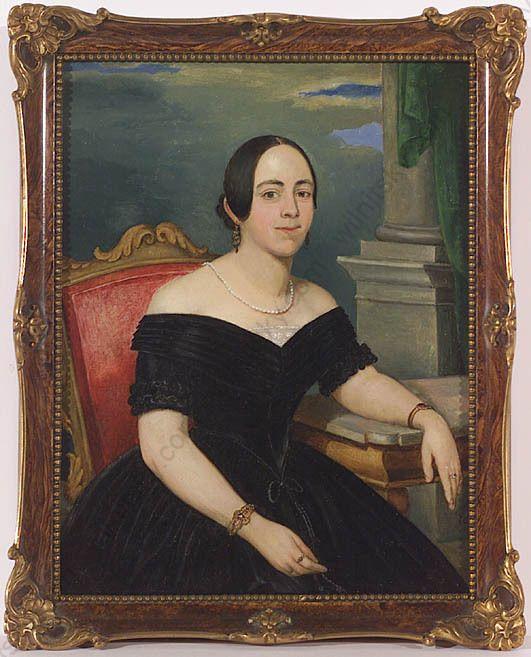 Female Portrait, Vienna Biedermeier, Small Oil Painting