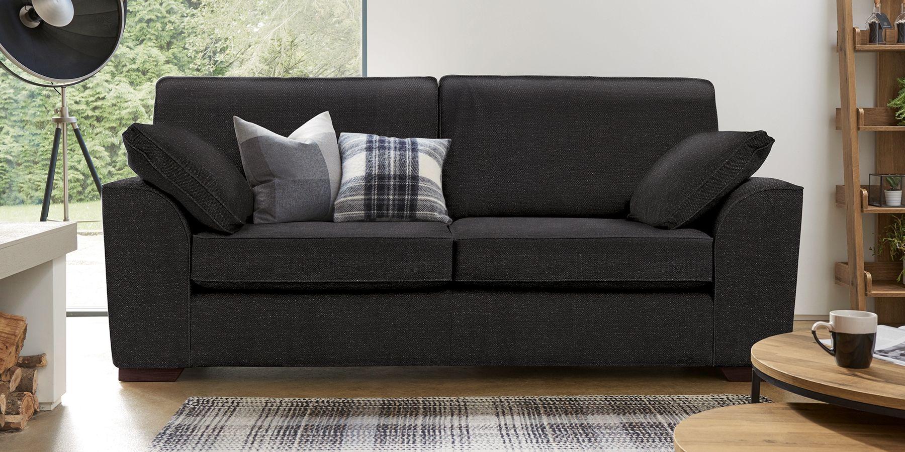 Buy Stamford Large Sofa 3 Seats Antique Velvet Dark Charcoal Large Square Angle Light From The Next Uk Online Shop Sofa Next Large Sofa Sofa