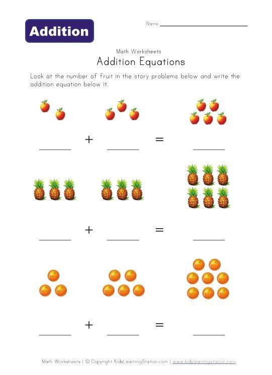 Addition preschool-worksheets | Stuffs for my kids (or future kids ...