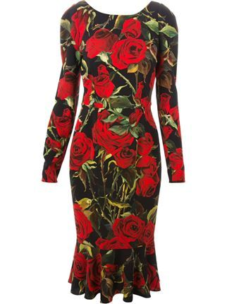 dd558bfb Dolce & Gabbana Rose Print Dress - Tessabit - Farfetch.com | TEDDY ...