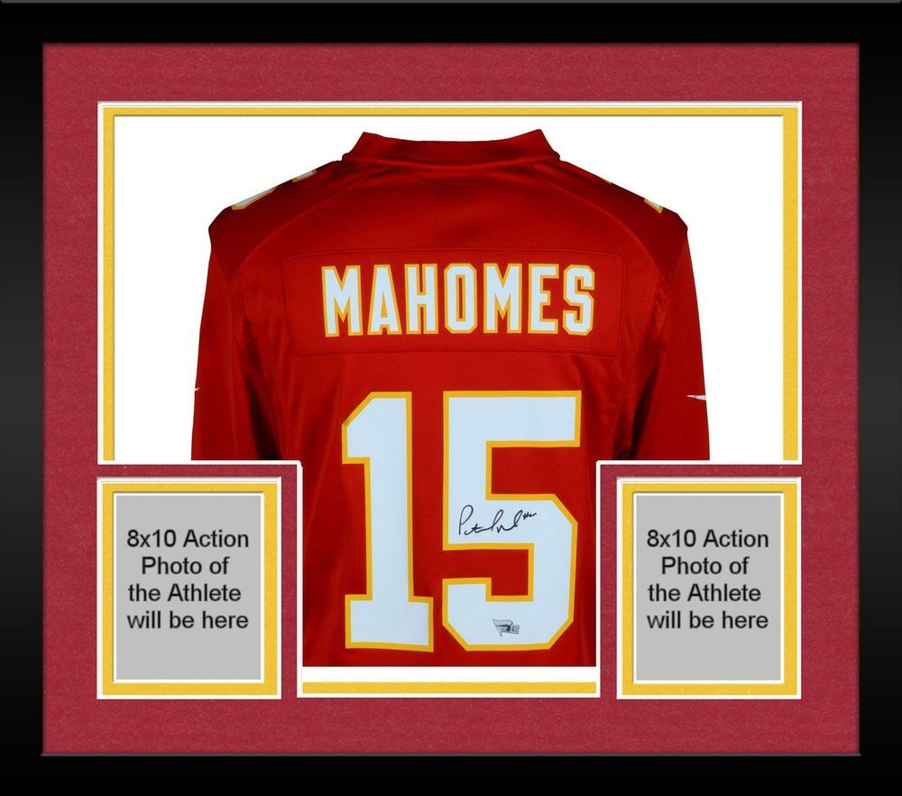 a52ed6cc06d Framed Patrick Mahomes Kansas City Chiefs Autographed Red Nike Game Jersey