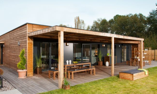 maisons en bois booa moov4 | Terrasse | Pinterest | Container office ...