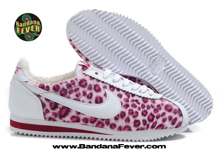 more photos 80100 c86ae ... Bandana Fever - - Bandana Fever Custom Bandana Nike Cortez Leather White  Red Pink ...