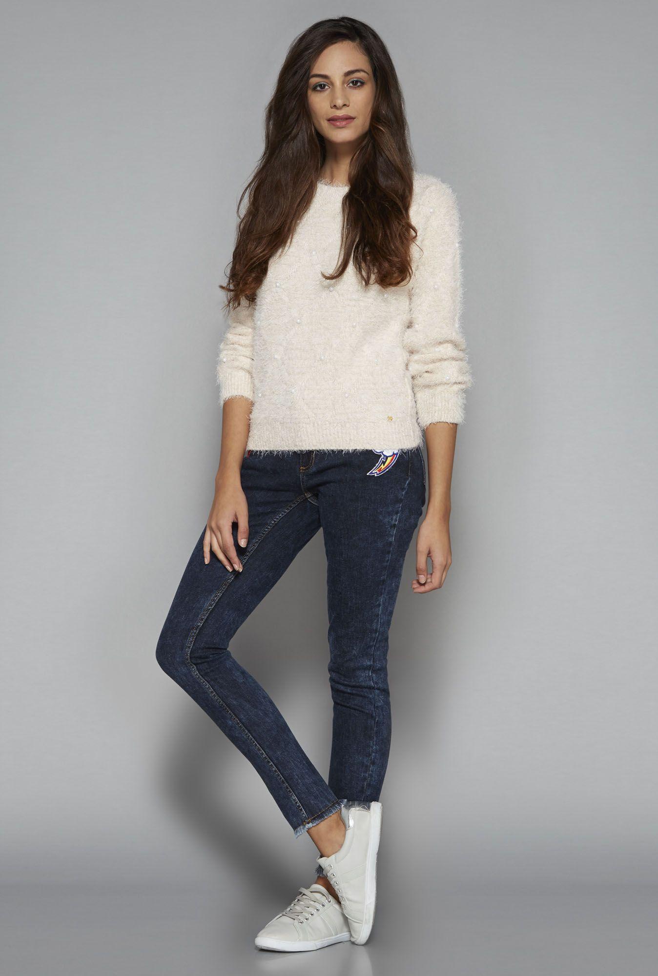 Buy Nuon by Westside Pink Linze Sweater online