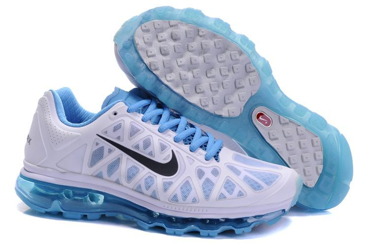 Discount Authentic Womens Nike Air Max 2011 Shoes Black/Blue