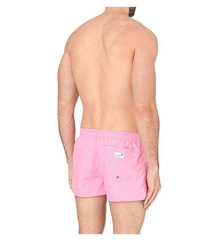 BOARDIES Plain shortie swim shorts (Light pink