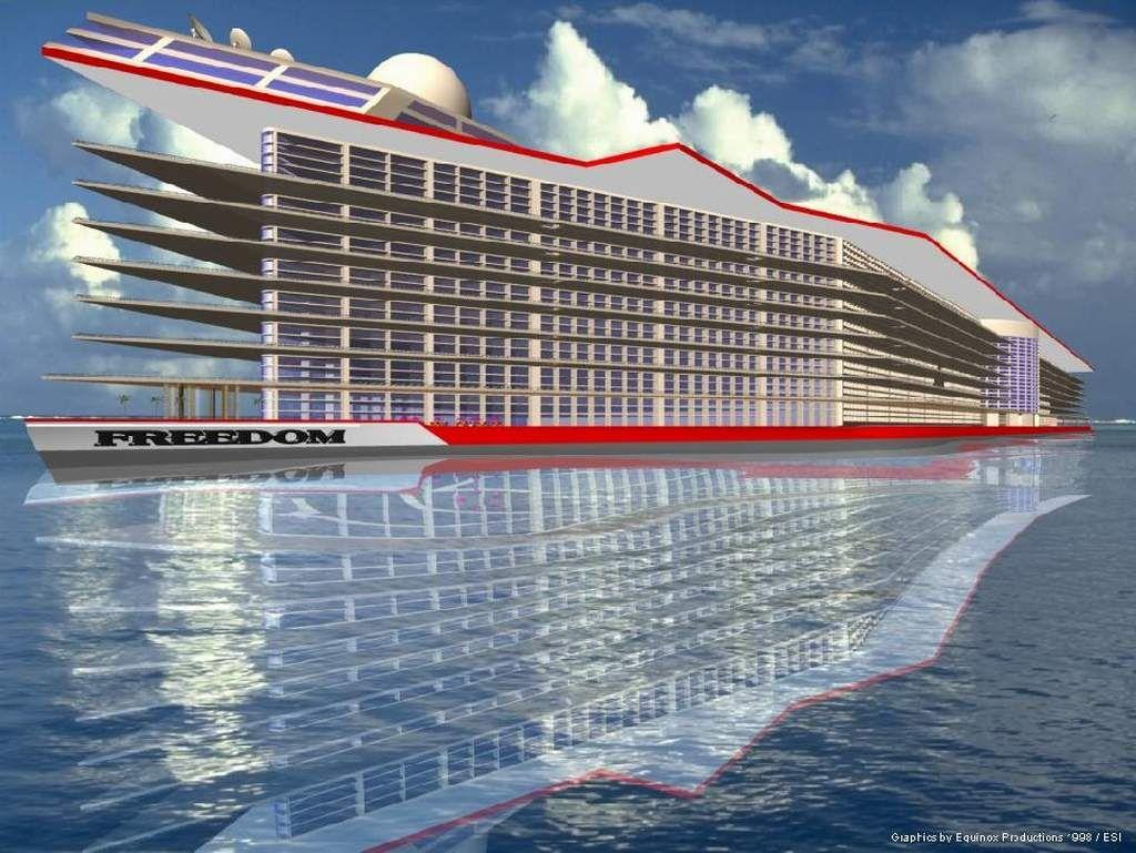6 Billion Floating City Freedom To Dwarf Worlds Largest Ships Ever Built