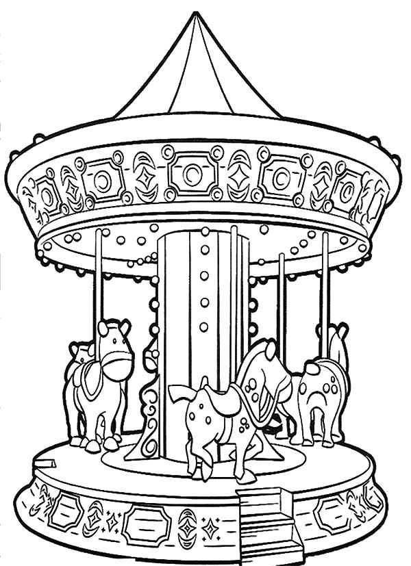 Carnival Night Carnival Magic Roundabout Coloring Pages Night