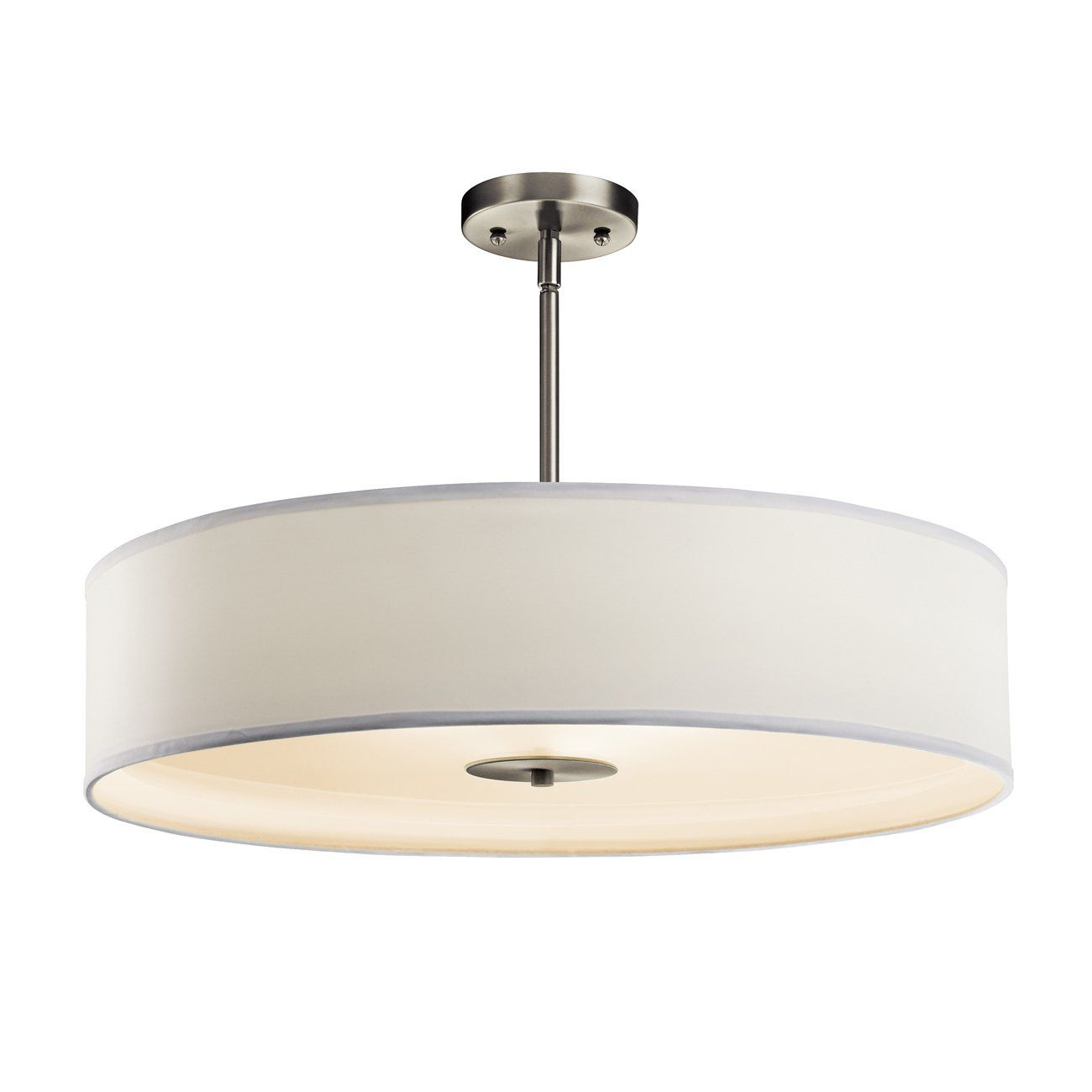 drum lighting pendant. Kichler Lighting 42122 3-Light Large Convertible Pendant/Semi Flush Ceiling Light - Drum Pendant I