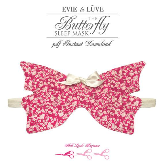 DIGITAL Lingerie Sewing Pattern Butterfly Sleep Mask PDF   Sleep ...