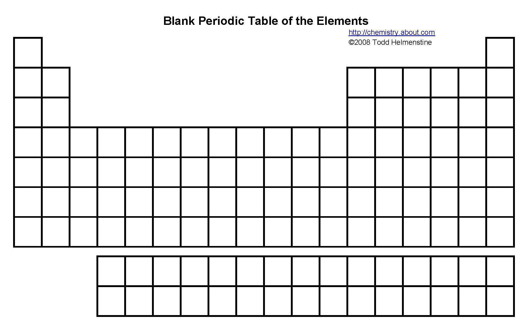 Image Result For Blank Periodic Table