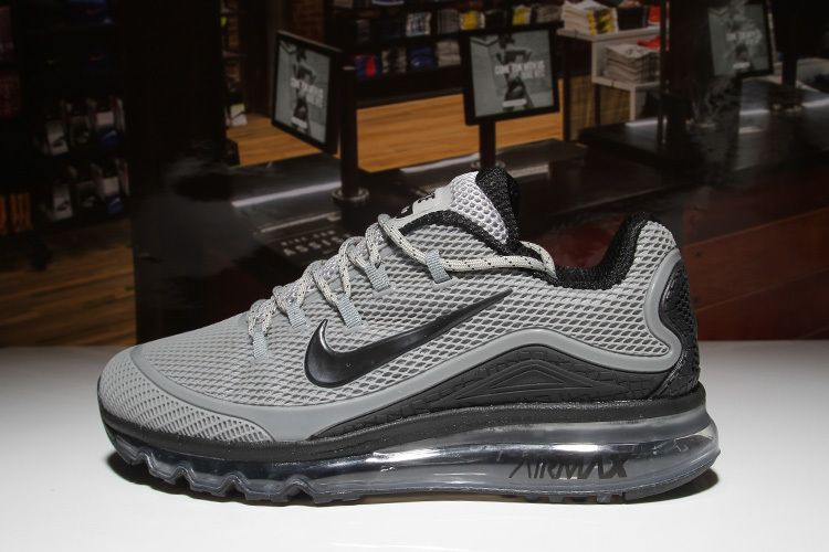 Nike Air Max 2018 Grey Black Men shoes design for runners,it's features  high-end technology combines with streamlined to deliver maximum comfort  and ...