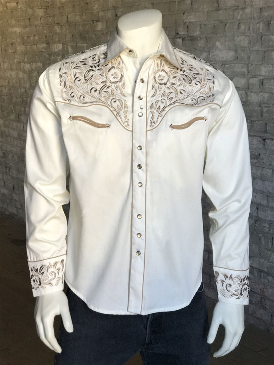 0cba02b0 Slim Fit Vintage Tooling Embroidery Western Shirt | Rockmount Ranch Wear