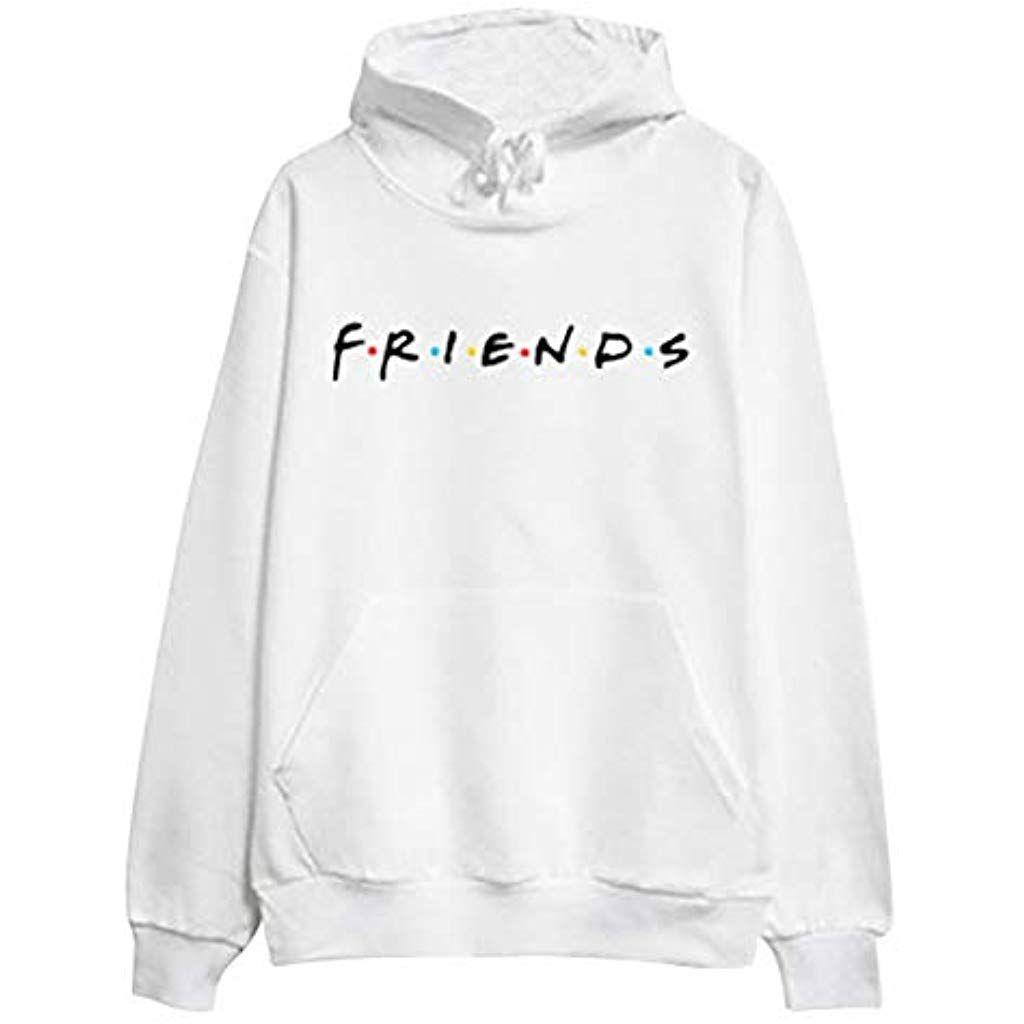 magasin discount vraiment pas cher design élégant Sweat-Shirt Femme Lettre Friends imprimée Pull À Manches ...