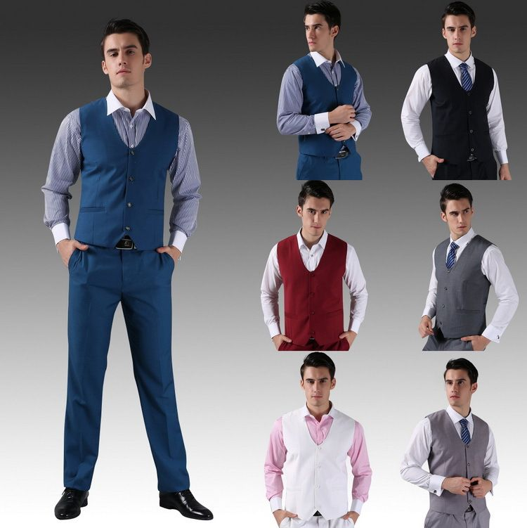 Long dress vest and pants