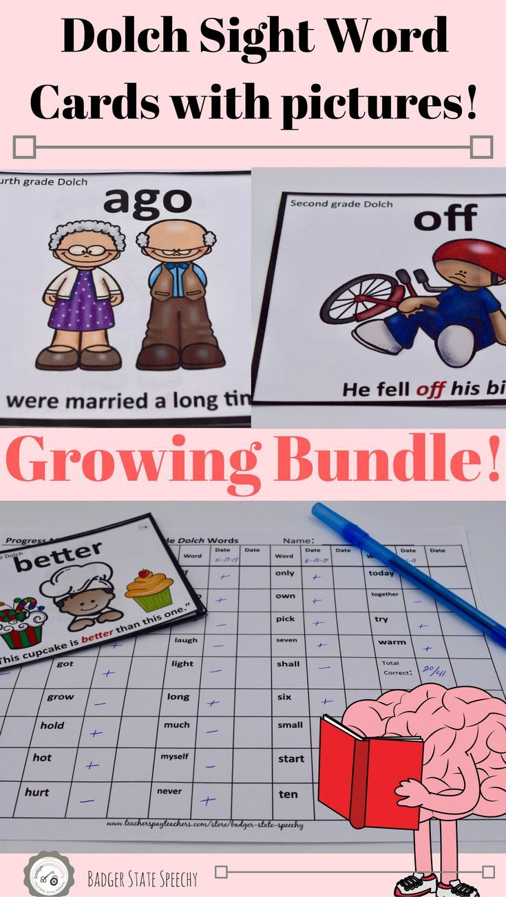 Are your English Language Learners (ELL) or low vocabulary students struggling with learning Dolch sight words?  Check out this growing bundle of sight word cards with pictures!