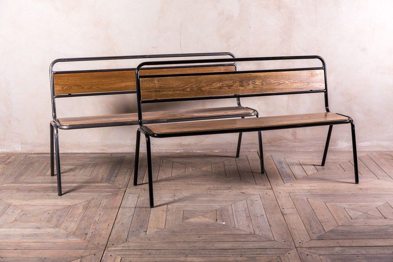 Astounding Details About Dining Bench With Back Gunmetal Or Black Caraccident5 Cool Chair Designs And Ideas Caraccident5Info