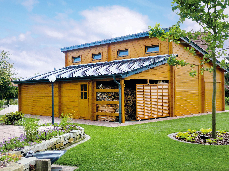 pin von wolff s blockhaus gartenwelt auf wolff s blockhaus xl holzgarage garage pinterest. Black Bedroom Furniture Sets. Home Design Ideas