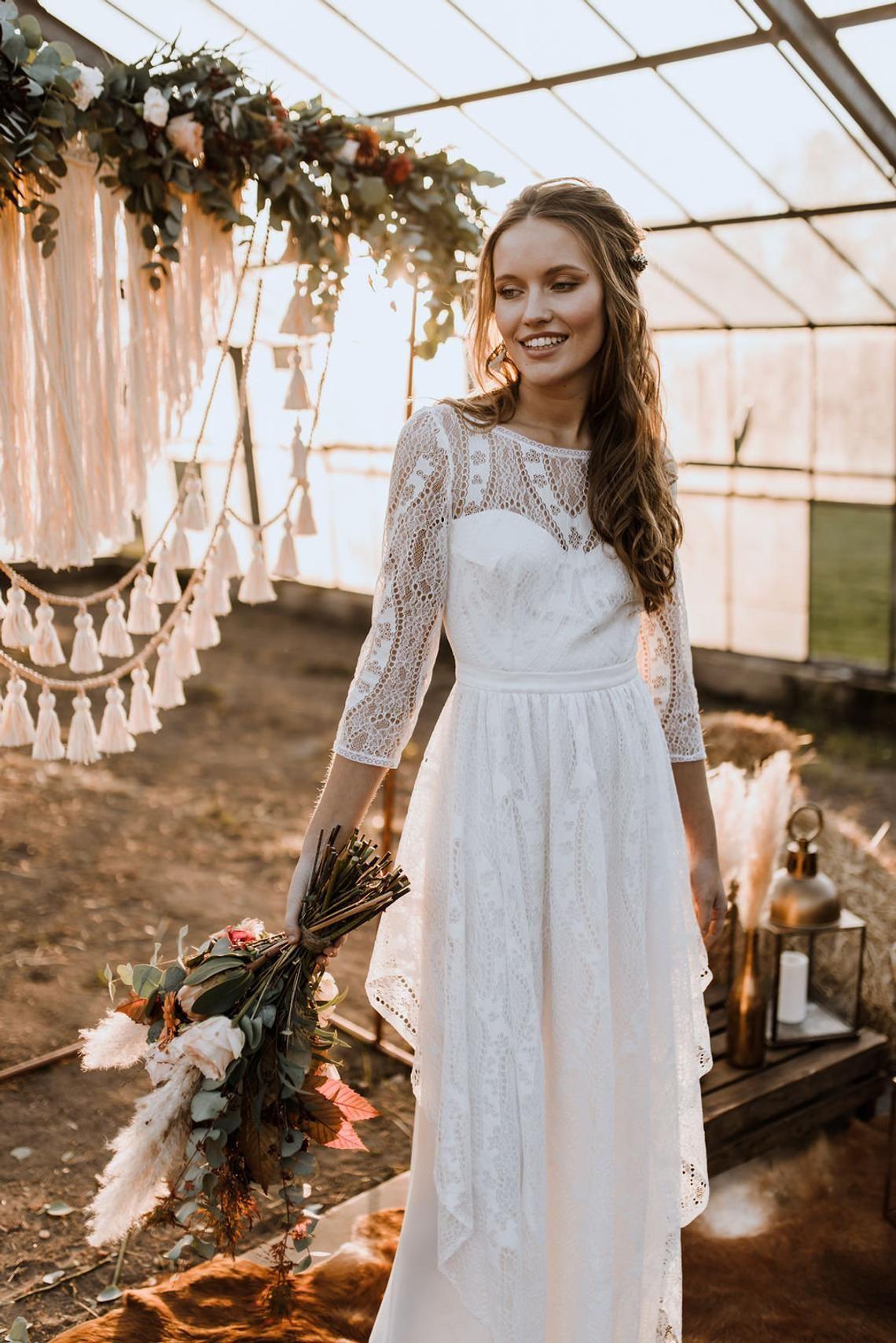 Die Traumhochzeit Im Bohemian Brautkleid Wir Sagen Ja