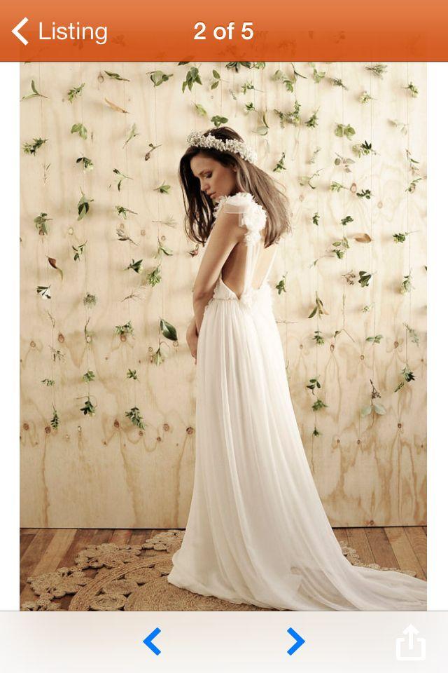 Long flowy wedding dress Etsy   Wedding   Pinterest   Flowy wedding ...