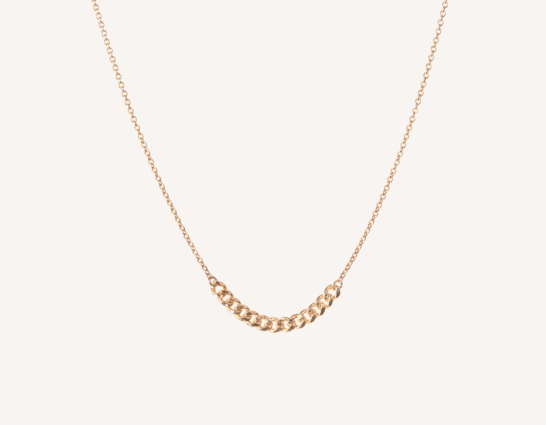 9f5ade700ff7 Simple classic chain 14k solid gold Interlink Necklace Vrai and Oro, 14K  Rose Gold