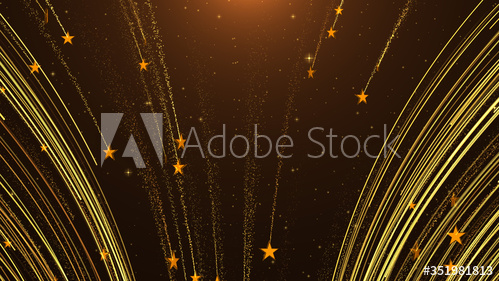 Starry Abstract Golden Award Celebrations Particle Lines With Falling Stars Background Buy This Stock Illust Star Background Stock Illustration Falling Stars