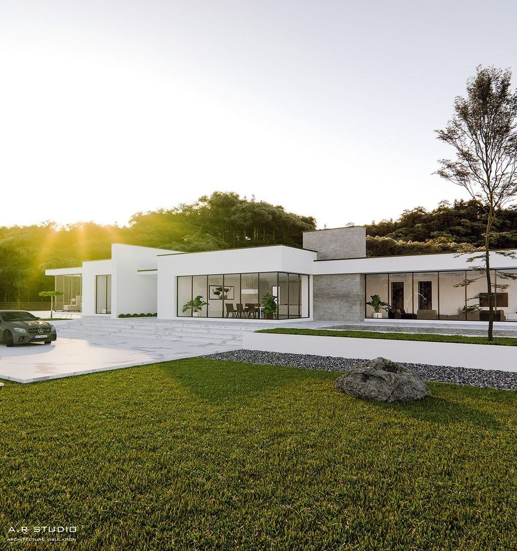 30 Charming Minimalist House Plan Ideas That You Can Make Inspiration Trendedecor In 2020 Modern House Facades Minimalist Architecture Facade House