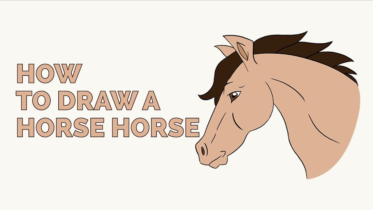 Learn how to draw a horse head easy step by step drawing tutorial