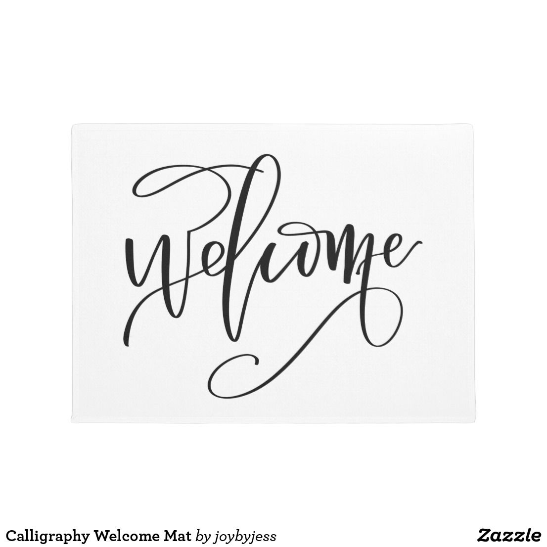 Calligraphy Welcome Mat Zazzle Com In 2020 Calligraphy Welcome Calligraphy Calligraphy Print