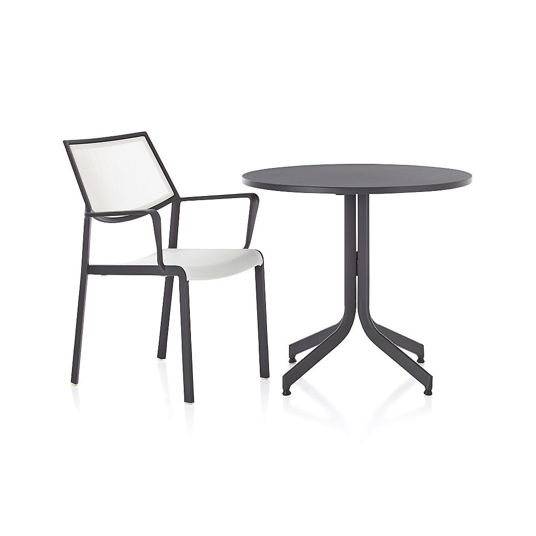 Lanai White Mesh Square Dining Chair + Reviews | Crate and
