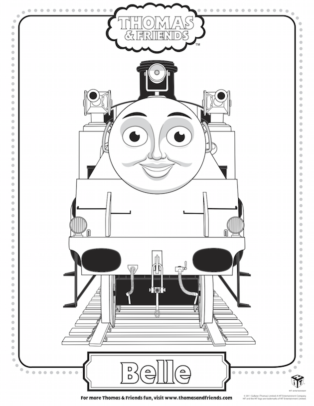 Belle Coloring Sheet Train Coloring Pages Thomas And Friends Coloring Pages