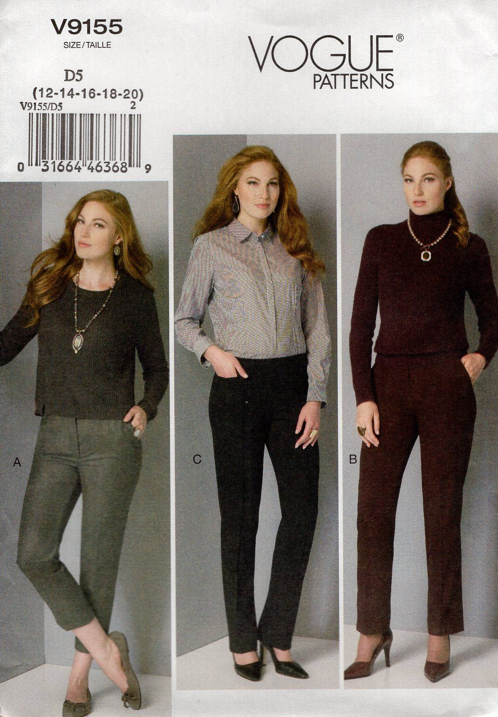 FREE US SHIP Vogue 9155 Sewing Pattern Out of Print Size 12 14 16 18 ...